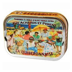 Sardines à l'huile d'olive pimentée aux achards