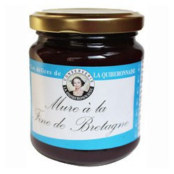 Blackberry jam with flavor of Fine de Bretagne