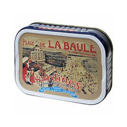 "Sardines in extra virgin olive oil, ""Beach of La Baule Casino"" 2013 vintage"