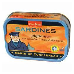 """Sardines piquantes à l'huile d'olive vierge """" Marin de Concarneau"""""""