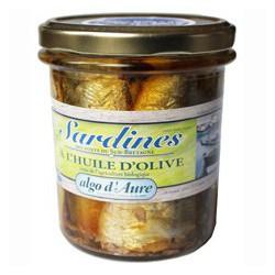 Sardines à l'huile d'olive issue de l'agriculture biologique