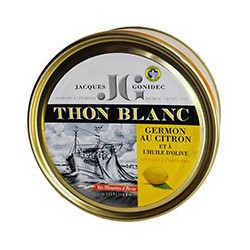 White tuna in olive oil and lemon, 132g