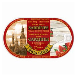 Fillets of sardines in tomato sauce