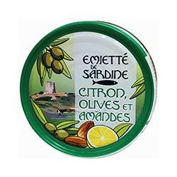 Emietté de sardines citron olives et amandes