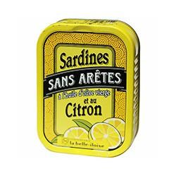 Sardines sans arêtes à l'huile d'olive vierge et au citron