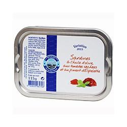 Sardines à l'huile d'olive aux tomates séchées et au piment d'espelette