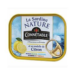 La Sardine Nature et sa rondelle de citron