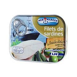 Filets de sardines à l'huile d'olive