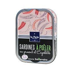 Sardines à poêler au piment d'Espelette et beurre Beillevaire