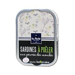Sardines à poêler aux poivres des mondes et beurre Beillevaire