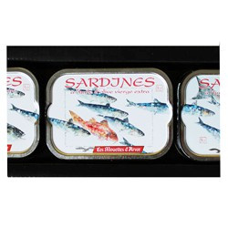 Presentation hampers of sardines in extra virgin olive oil, 2012