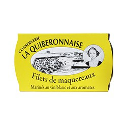 Filets de maquereaux marinés au vin blanc et aux aromates 122g
