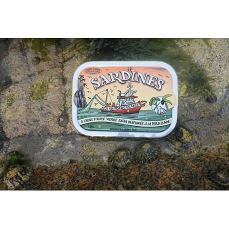 Sardines à l'huile d'olive vierge extra parfumée à la persillade