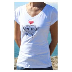 "T-shirt femme S ""Sardines Pirates"""