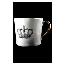 Tasse à motif de couronne