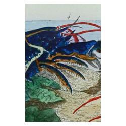 Plat à motif de homard
