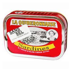 Sardines à l'huile d'olive sans sel