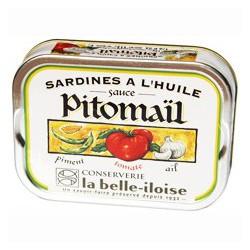 Sardines in oil, pitomaïl sauce