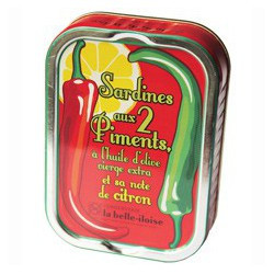 Sardines with 2 peppers, in extra virgin olive oil with lemon flavour