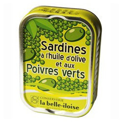 Sardines in olive oil and green pepper