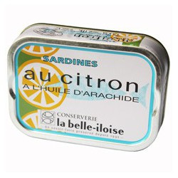 Sardines with lemon in peanut oil