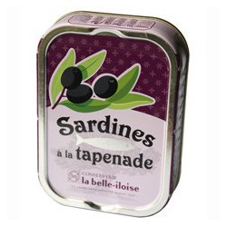 Sardines with black olive tapenade