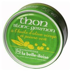 Thon blanc germon à l'huile d'olive et poivre vert