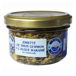 Emietté de thon germon à l'algue wakamé