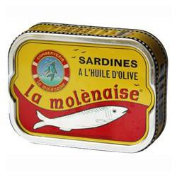 """Sardines in olive oil """"la molènaise"""""""