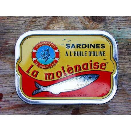 """Sardines à l'huile d'olive """"la molènaise"""""""