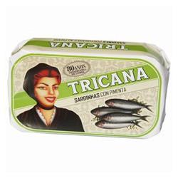Sardines aux poivres verts et à l'huile d'olive