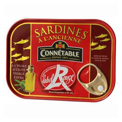 Vintage recipe of sardines, Red Label