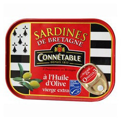 Brittany sardines in olive oil, MSC (Marine Stewardship Council)