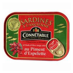 Vintage recipe of sardines with Espelette chili