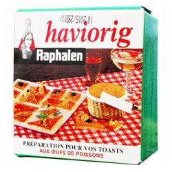 Haviorig, preparation for fish eggs toasts