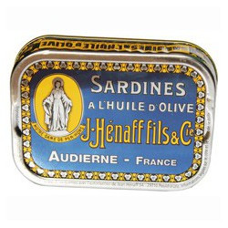 Sardines in olive oil, collectible package