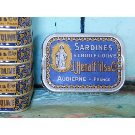 Sardines à l'huile d'olive, boîte à collectionner