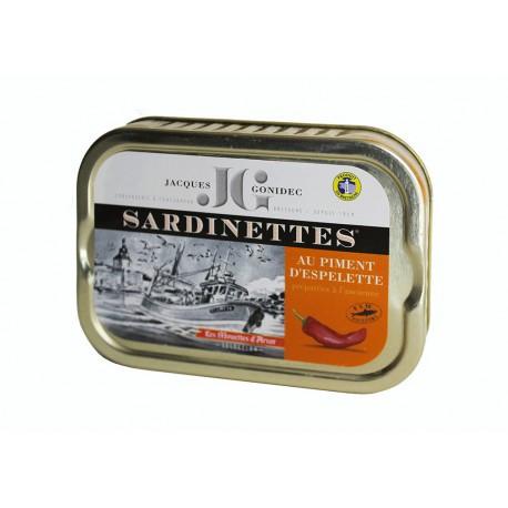 Sardinettes au piment d'Espelette et huile d'olive BIO