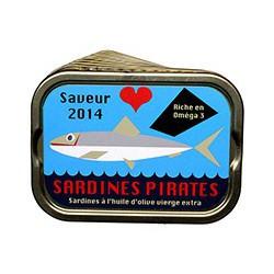 Lot de 10 boîtes de sardines à l'huile d'olive 2014