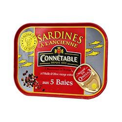 Sardines à l'huile d'olive et aux 5 baies