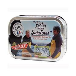 Sardines de Saint-Gilles-Croix-de-Vie à l'huile d'olive Fiers de nos sardines