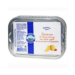 Sardines à l'huile d'olive au citron confit et au piment d'espelette