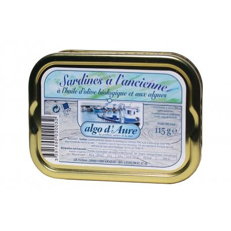 Sardines à l'ancienne à l'huile d'olive bio et aux algues