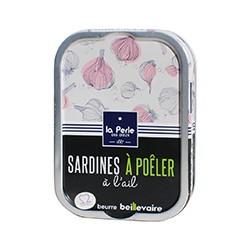 Sardines à poêler à l'ail et beurre Beillevaire
