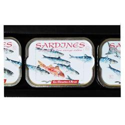 Coffret de sardines à l'huile d'olive vierge extra 2012