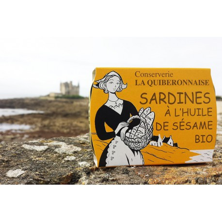 Sardines à l'huile de sésame BIO