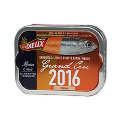 Sardines à l'huile d'olive Grand Cru 2016