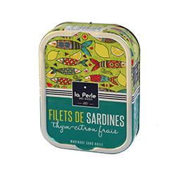 Filets de sardines thym-citron frais