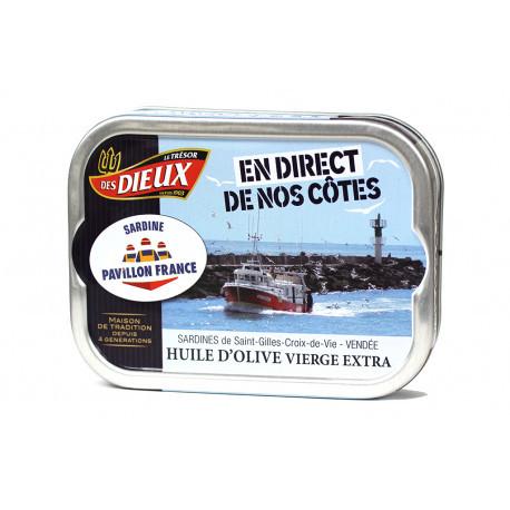 Sardines à l'huile d'olive En direct de nos côtes