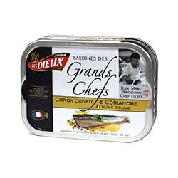 Sardines citron confit et coriandre Sardines des grands chefs